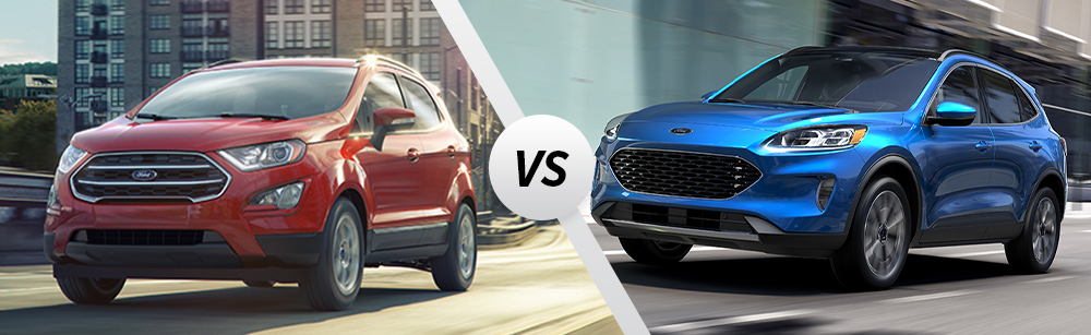 2020 Ford Ecosport vs 2020 Ford Escape