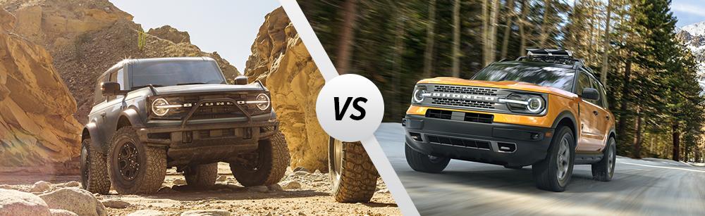 2021 Ford Bronco vs 2021 Ford Bronco Sport