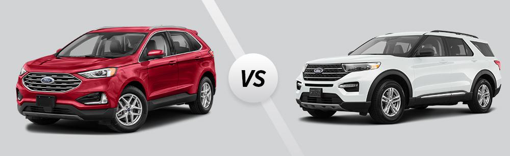 2021 Ford Edge vs 2021 Ford Explorer