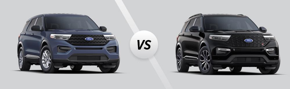 2021 Ford Explorer vs 2021 Ford Explorer ST