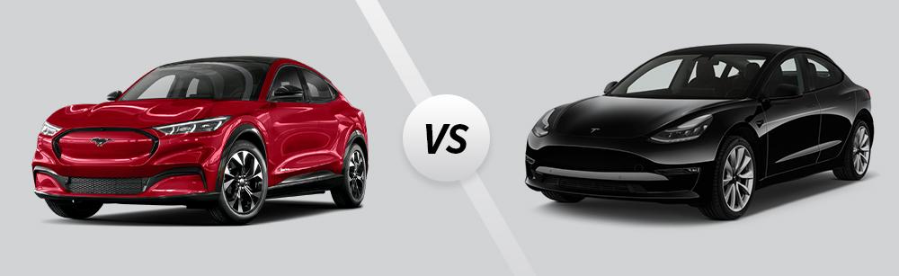 2021 Ford Mustang Mach-E vs 2021 Tesla Model 3