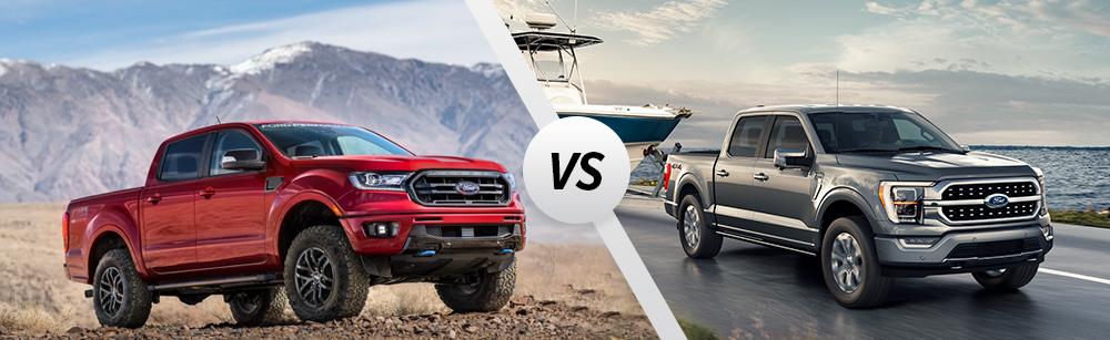 2021 Ford Ranger vs 2021 Ford F-150