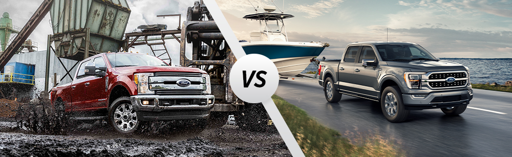 2021 Ford Super Duty vs 2021 Ford F-150