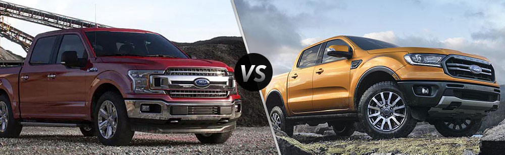 2019 Ford F-150 vs 2019 Ford Ranger