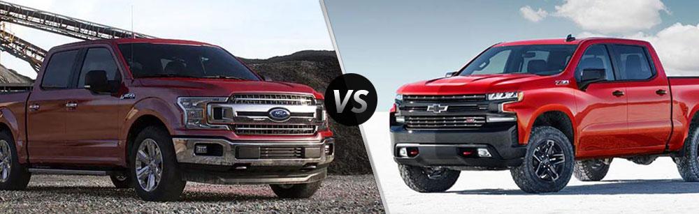 2019 Ford F-150 vs 2019 Chevrolet Silverado 1500