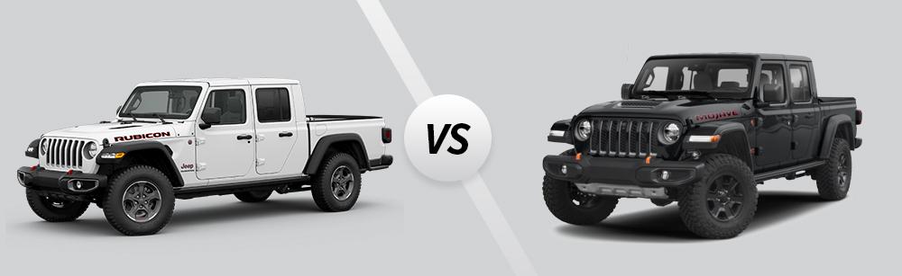 2021 Jeep Gladiator Rubicon vs 2021 Jeep Gladiator Mojave