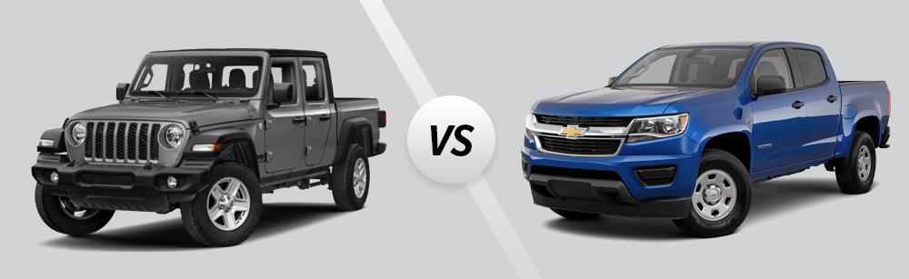 2021 Jeep Gladiator vs 2021 Chevrolet Colorado