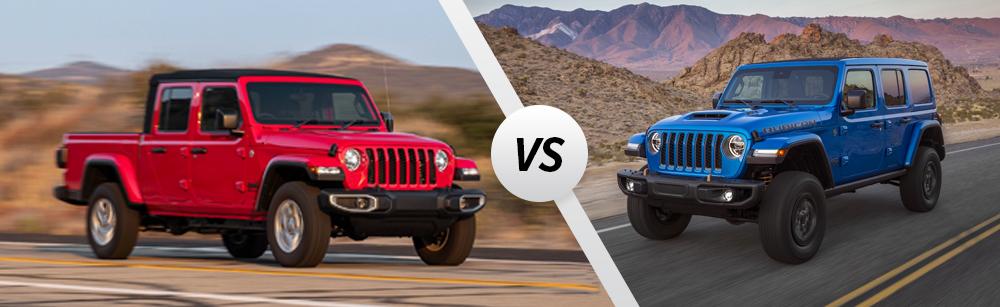 2021 Jeep Gladiator vs 2021 Jeep Wrangler
