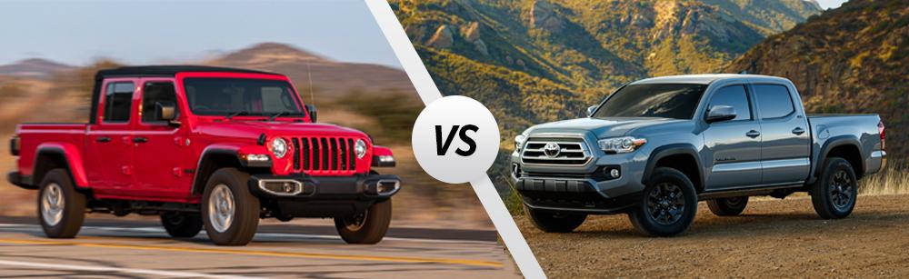 2021 Jeep Gladiator vs 2021 Toyota Tacoma