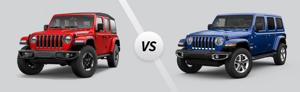 2021 Jeep Wrangler Rubicon vs 2021 Jeep Wrangler Sahara