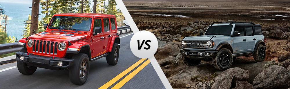 2021 Jeep Wrangler vs 2021 Ford Bronco