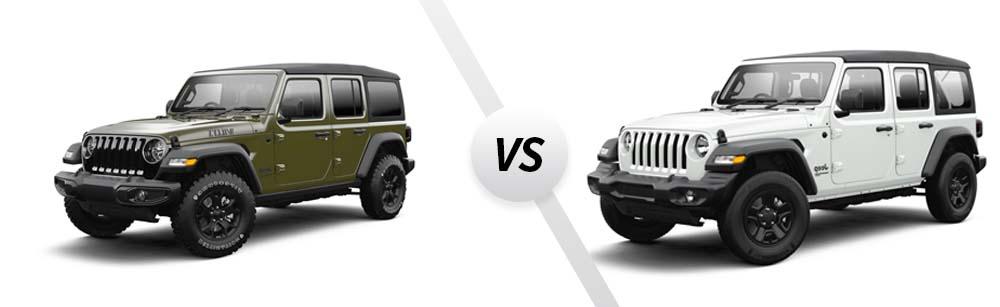 2021 Jeep Wrangler Willys vs 2021 Jeep Wrangler Sport