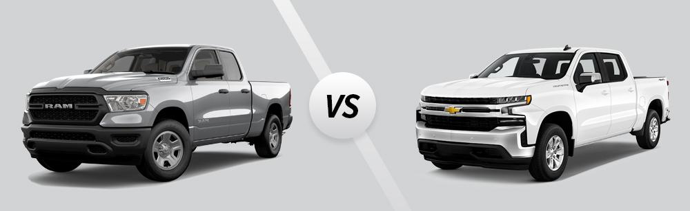 2021 Ram 1500 vs 2021 Chevrolet Silverado 1500