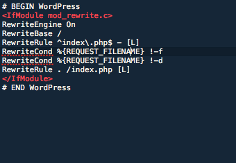 Default WordPress .htaccess