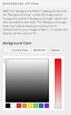 Select your background color
