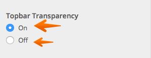 Topbar Transparency