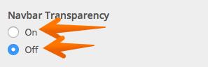 Navbar Transparency