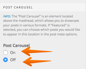 Post Carousel on or off