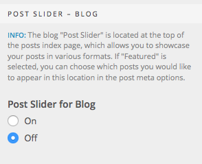 Post Slider Blog