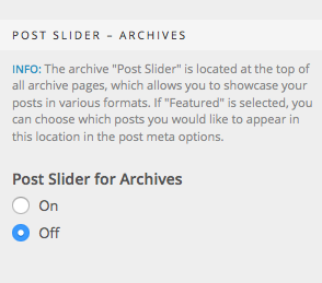Post Slider Archives