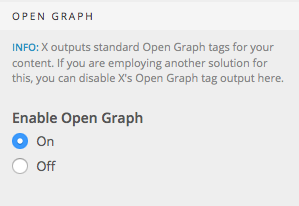 Open Graph setting