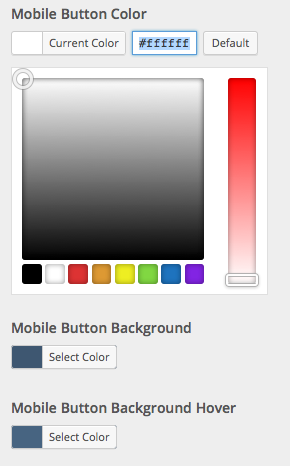 Mobile button colors