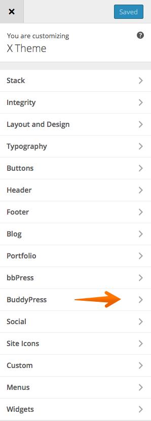 BuddyPress options