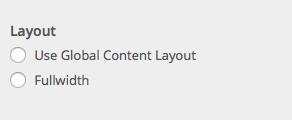 BuddyPress layout options