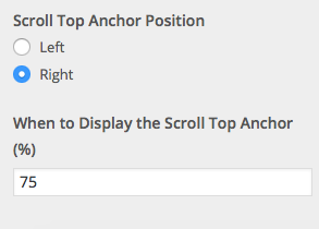 Scroll top anchor options