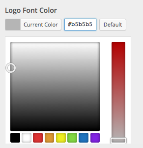 Logo font color selector open