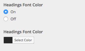 Headings font color