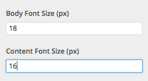 Body and content font size