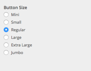 Button size options