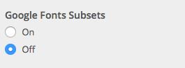 Font subsets