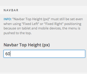 Navbar top height