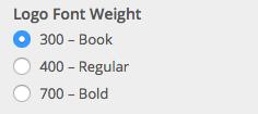 Logo Font Weight