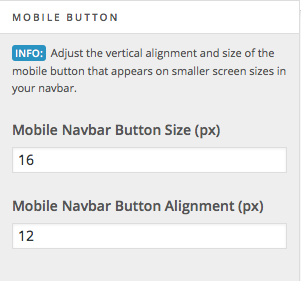 Mobile button alignment