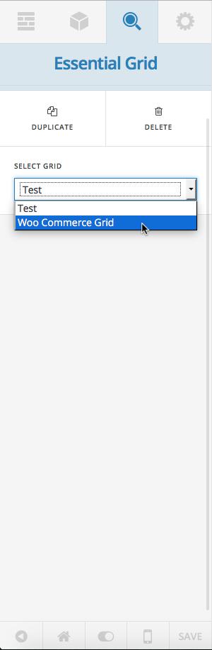 WooCommerce Grid selection