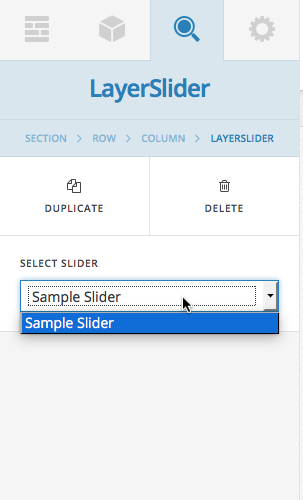 LayerSlider dropdown