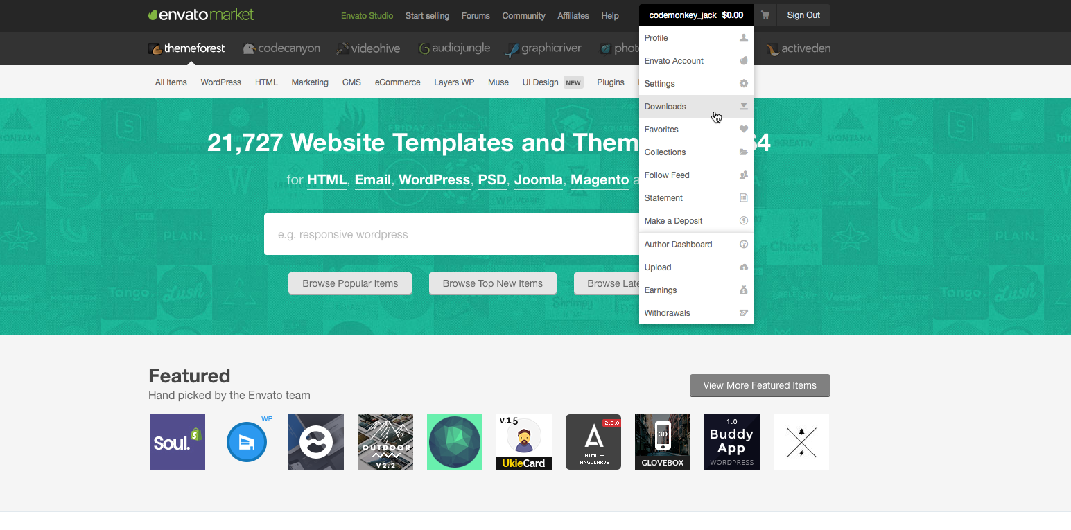 Downloads ThemeForest