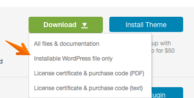 Download installable files