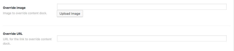 Override Content Dock options