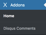 Disqus Comments settings