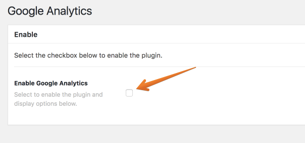 Google Analytics Enable Or Disable