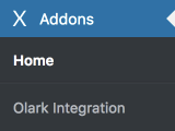 Olark Integration Settings