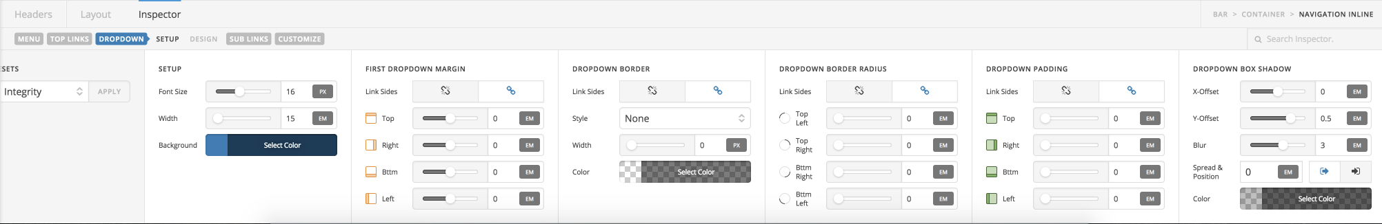 Dropdown Controls