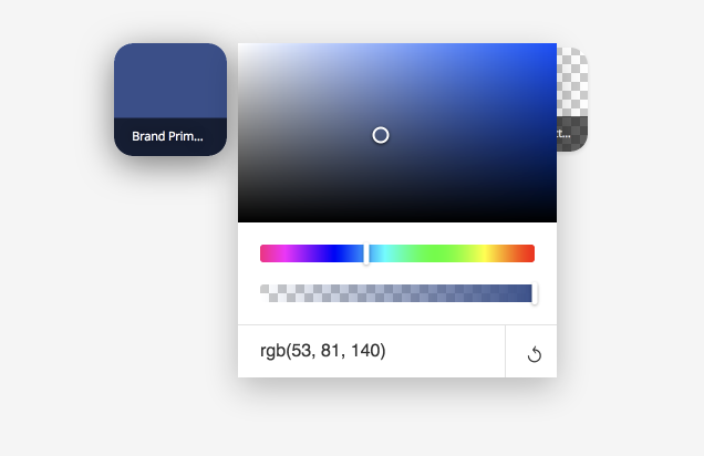 Color Picker open
