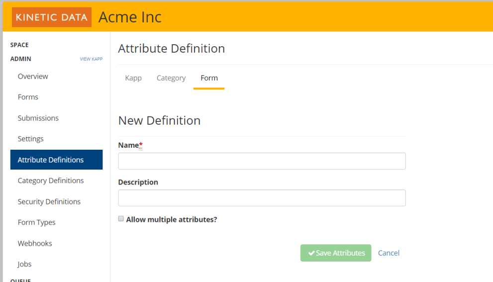 Attribute Definitions