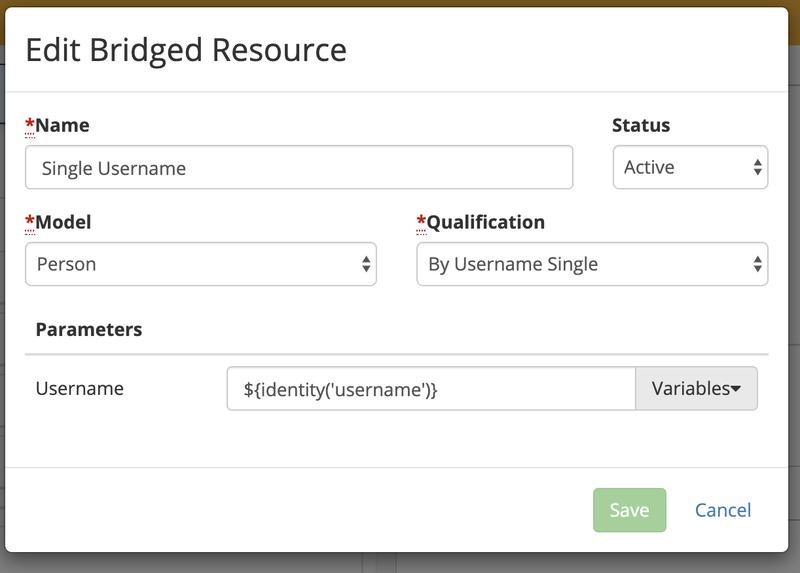 V5-SIngle Username-Bridged Resource