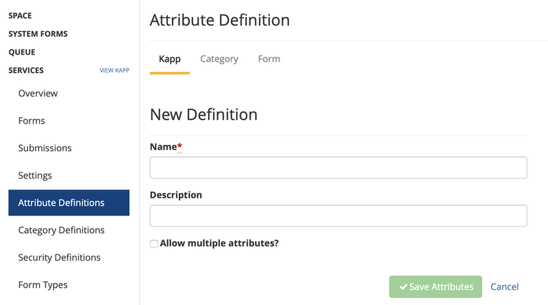 add attribute definition